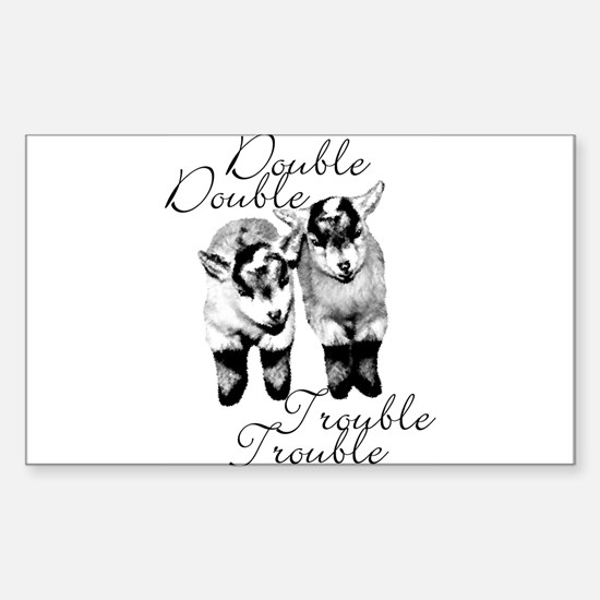 Baby Pygmy Goats Double Trouble Decal