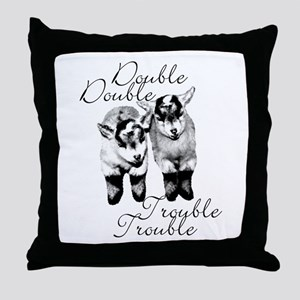 Baby Pygmy Goats Double Trouble Throw Pillow