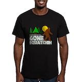 Gone squatchin Fitted Dark T-Shirts