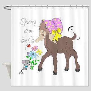 Baby Nubian Goat Shower Curtain