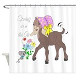 Baby Nubian Goat Shower Curtain