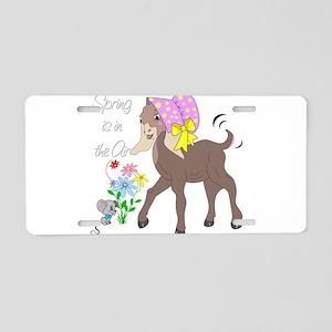 Baby Nubian Goat Aluminum License Plate