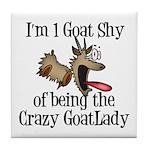 Crazy Goat Lady Tile Coaster