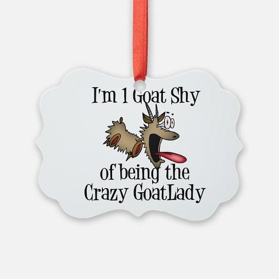 Crazy Goat Lady Ornament