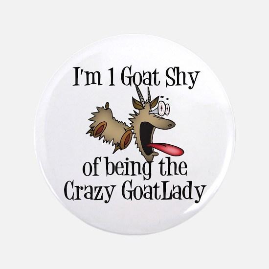 """Crazy Goat Lady 3.5"""" Button"""