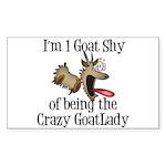 Crazy Goat Lady Sticker (Rectangle)