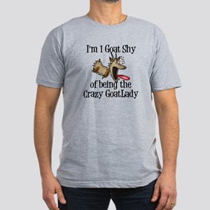 Crazy Goat Lady Men's Fitted T-Shirt (dark)
