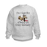 Crazy Goat Lady Kids Sweatshirt