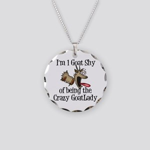 Crazy Goat Lady Necklace Circle Charm