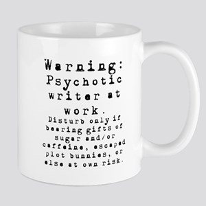 Caution: Writer at Work Mug