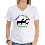 Color my World with Goats Women's V-Neck T-Shirt