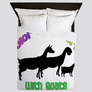 Color my World with Goats Queen Duvet