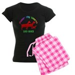 Color my World with Goats Women's Dark Pajamas