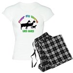Color my World with Goats Women's Light Pajamas
