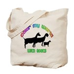 Color my World with Goats Tote Bag