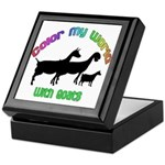 Color my World with Goats Keepsake Box