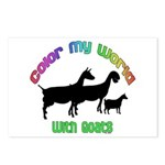 Color my World with Goats Postcards (Package of 8)