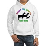 Color my World with Goats Hooded Sweatshirt