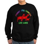 Color my World with Goats Sweatshirt (dark)