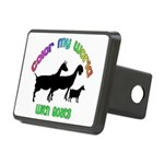 Color my World with Goats Rectangular Hitch Cover