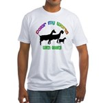 Color my World with Goats Fitted T-Shirt