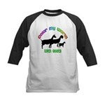Color my World with Goats Kids Baseball Jersey