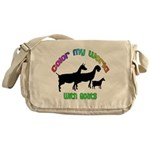 Color my World with Goats Messenger Bag