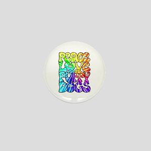 PeaceLovePuppyDogs2Tie-Dye Mini Button