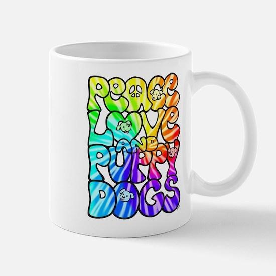 PeaceLovePuppyDogs2Tie-Dye Mug