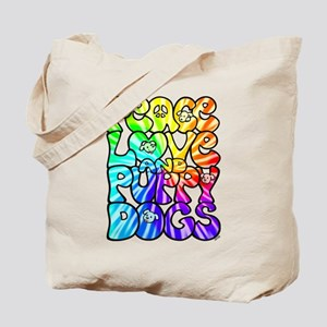 PeaceLovePuppyDogs2Tie-Dye Tote Bag