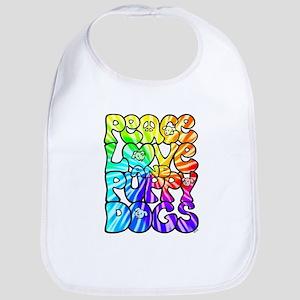 PeaceLovePuppyDogs2Tie-Dye Bib