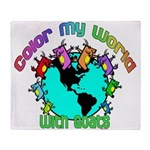 Color my World with Goats 2 Throw Blanket