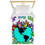 Color my World with Goats 2 Twin Duvet