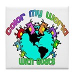 Color my World with Goats 2 Tile Coaster
