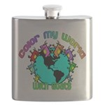 Color my World with Goats 2 Flask