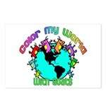 Color my World with Goats 2 Postcards (Package of