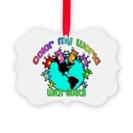 Color my World with Goats 2 Picture Ornament