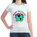 Color my World with Goats 2 Jr. Ringer T-Shirt
