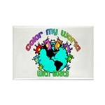 Color my World with Goats 2 Rectangle Magnet