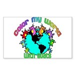 Color my World with Goats 2 Sticker (Rectangle)