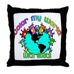 Color my World with Goats 2 Throw Pillow