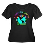 Color my World with Goats 2 Women's Plus Size Scoo