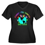 Color my World with Goats 2 Women's Plus Size V-Ne