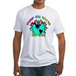 Color my World with Goats 2 Fitted T-Shirt