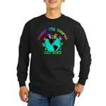 Color my World with Goats 2 Long Sleeve Dark T-Shi