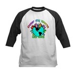 Color my World with Goats 2 Kids Baseball Jersey