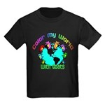 Color my World with Goats 2 Kids Dark T-Shirt
