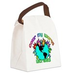 Color my World with Goats 2 Canvas Lunch Bag