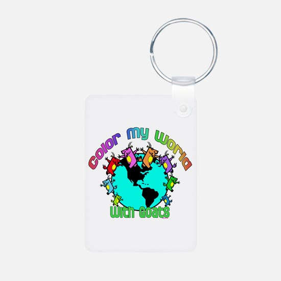 Color my World with Goats 2 Keychains