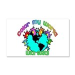 Color my World with Goats 2 Car Magnet 20 x 12